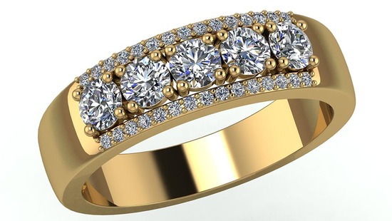 Certified 1.60 CTW Round Diamond 14K Yellow Gold Ring
