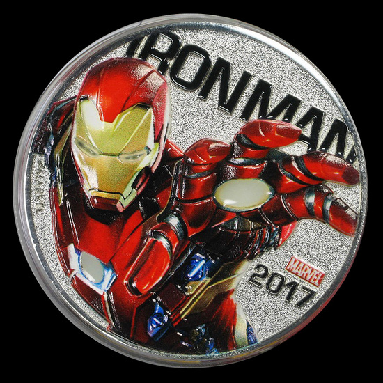 2017 Fiji 50 Cent Iron Man Light Up (Specimen)