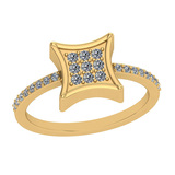 0.25 Ctw VS/SI1 Diamond 14K Yellow Gold Eternity Ring