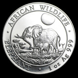 Somalia 1 oz Silver Elephant 2011