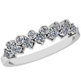 0.34 Ctw Diamond I2/I3 14K White Gold Eternity Band Ring