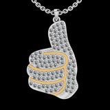 1.27 Ctw SI2/I1 Diamond 14K White And Yellow Gold Two tone Pendant