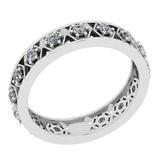 0.52 Ctw SI2/I1 Diamond 14K White Gold Band Ring