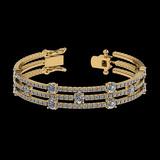 6.52 Ctw SI2/I1 Diamond Style 14K Yellow Gold Bracelet