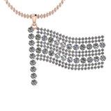 3.44 Ctw VS/SI1 Diamond 14K Rose Gold Pendant
