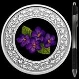 Collectible Floral Emblems - New Brunswick: Violet 2020 RCM 1/4 oz Ag