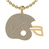 2.35 Ctw SI2/I1 Diamond 14K Yellow Gold Cap Pendant