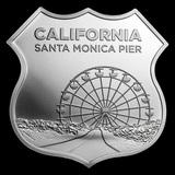 Collectible Icons of Route 66 Shield 1 oz Silver (Santa Monica Pier)