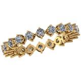0.88 Ctw Diamond I2/I3 14K Yellow Gold Eternity Band Ring