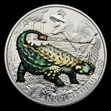 2020 Austria Cupro-Nickel ?3 Colorful Supersaurs (Ankylosaurus)