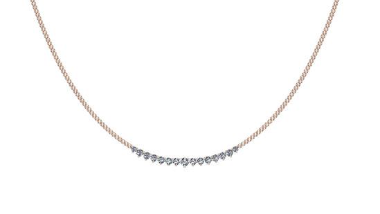 1.06 Ctw SI2/I1 Diamond 14K Rose Gold Necklace