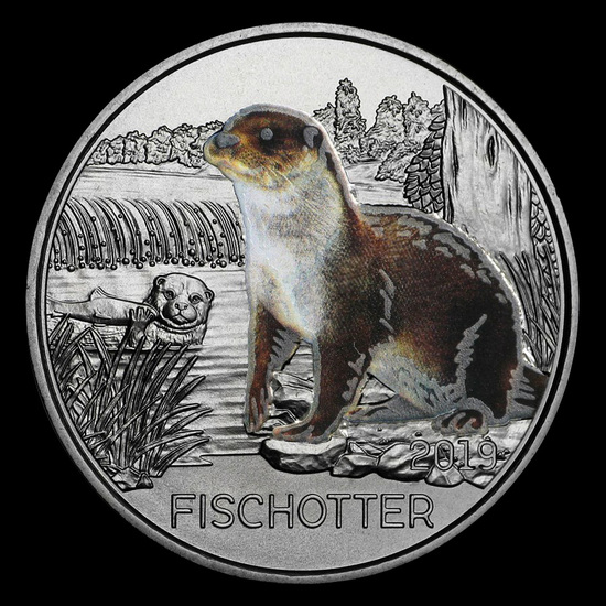 2019 Austria Cupro-Nickel ?3 Colorful Creatures (The Otter)