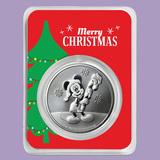2020 Niue 1 oz Silver $2 Mickey Christmas in Christmas Tree TEP