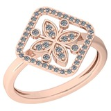 0.27 Ctw VS/SI1 Diamond 14K Rose Gold Ring