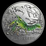 2019 Austria Cupro-Nickel ?3 Colorful Creatures (The Crayfish)