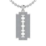 1.15 Ctw SI2/I1 Diamond 14K White Gold Men's Pendant