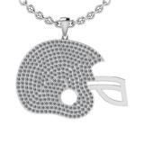 2.35 Ctw SI2/I1 Diamond 14K White Gold Cap Pendant