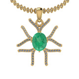 1.66 Ctw VS/SI1 Emerald And Diamond 14K Yellow Gold