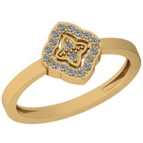 0.10 Ctw VS/SI1 Diamond 14K Yellow Gold Eternity Ring