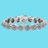 Certified 6.17 Ctw SI1/I2 Diamond Ladies Fashion 18K White Gold Bracelet