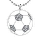 1.02 Ctw SI2/I1 Diamond 14K White Gold Football Pendant