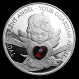 2019 Niue 1 oz Silver Crystal Coin Guardian Angel