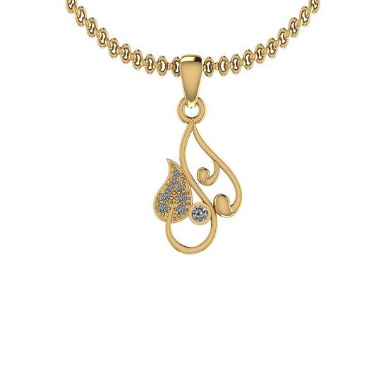 0.15 Ctw VS/SI1 Diamond 14K Yellow Gold Pendant