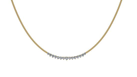 1.06 Ctw SI2/I1 Diamond 14K Yellow Gold Necklace