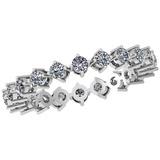 0.88 Ctw Diamond I2/I3 14K White Gold Eternity Band Ring