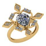 1.86 Ctw Diamond I2/I3 14K Yellow Gold Vintage Style Ring