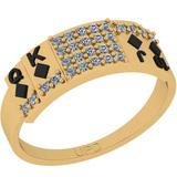 0.22 Ctw SI2/I1 Diamond 14K Yellow Gold Ring