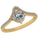 1.25 Ctw Diamond I2/I3 14K Yellow Gold Vintage Style Ring