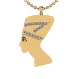 0.63 Ctw SI2/I1 Diamond 14K Yellow Gold Antique Vintage Style Face Pendant