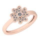 0.14 Ctw VS/SI1 Diamond 14K Rose Gold Ring