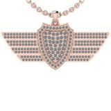 0.75 Ctw SI2/I1 Diamond 14K Rose Gold Men's Pendant