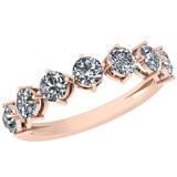 0.60 Ctw VS/SI1 Diamond 14K Rose Gold Eternity Ring