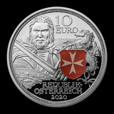 2020 Austria Proof Silver ?10 Knights' Tales (Fortitude)