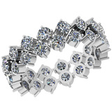 2.50 Ctw SI2/I1 Diamond 14K White Gold Band Ring