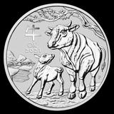 2021 Australia 1 oz Silver Lunar Ox Uncirculated Series III