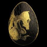 Palau 1/2 gram Golden Dragon Concave Egg Shape Proof