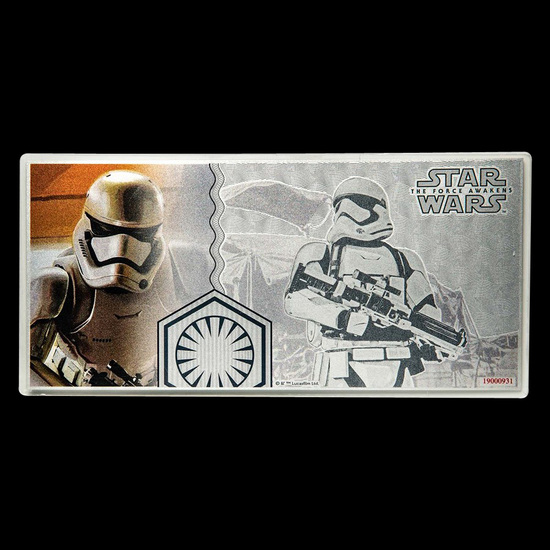 2019 5 g Silver Note Star Wars The Force Awakens Stormtrooper