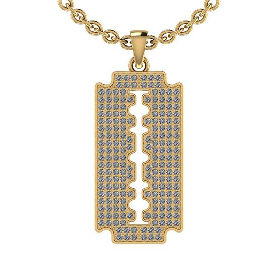 1.15 Ctw SI2/I1 Diamond 14K Yellow Gold Men's Pendant