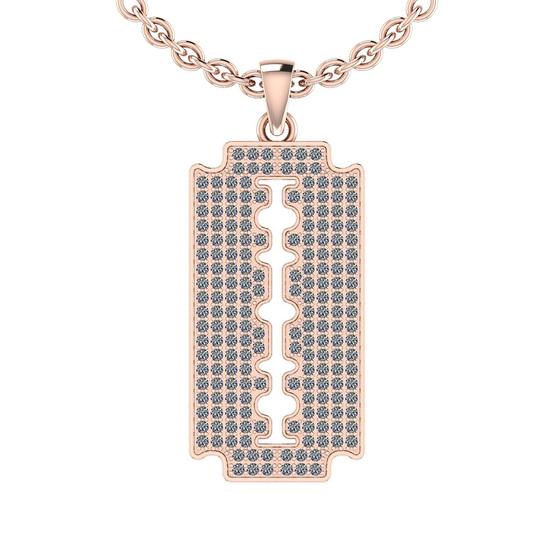 1.15 Ctw SI2/I1 Diamond 14K Rose Gold Men's Pendant