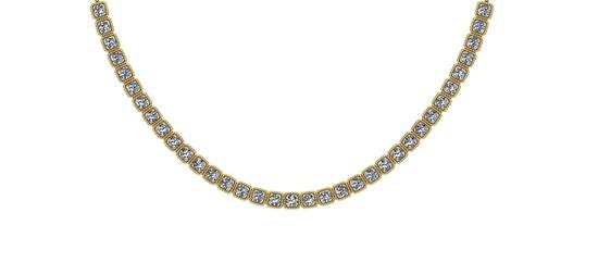2.82 Ctw SI2/I1 Diamond 14K Yellow Gold Necklace