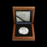 China 2012 Year of the Dragon 1 oz Silver Flower (w Box & COA)