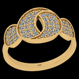 0.43 Ctw I2/I3 Diamond 10K Yellow Gold Entertiy Ring