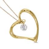 14K Yellow Gold Dashing Diamonds Pendant 0.08 CTW