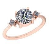 1.37 Ctw Diamond I2/I3 14K Rose Gold Vintage Style Ring