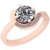 1.31 Ctw Diamond I2/I3 14K Rose Gold Vintage Style Ring