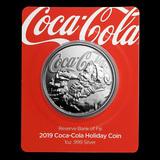 2019 Coca-Cola Holiday 1 oz Silver .999 Coin